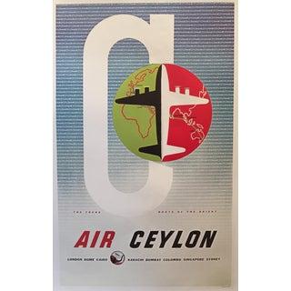 Modern Vintage-Style Air Ceylon Travel Poster