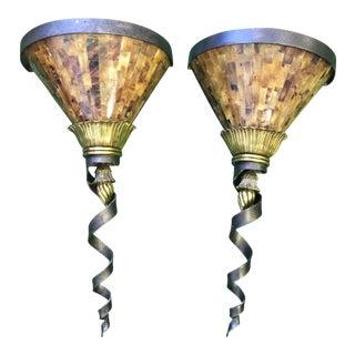 Maitland Smith Glass Scones - A Pair