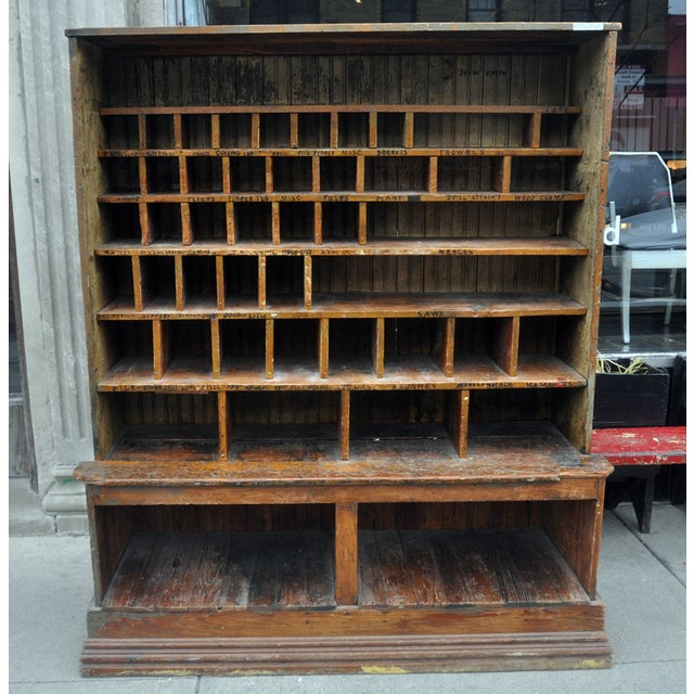 Image of Antique Hardware Store Cabinet