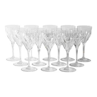 Vintage Saint Louis Crystal Wine Glasses- Set of 12