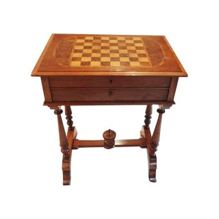 19th Century Inlaid Chess Table