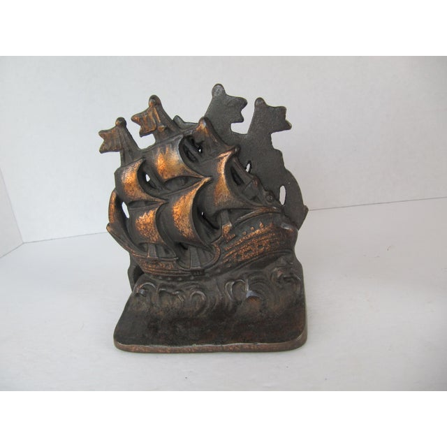 Vintage ship cast iron bookends a pair chairish