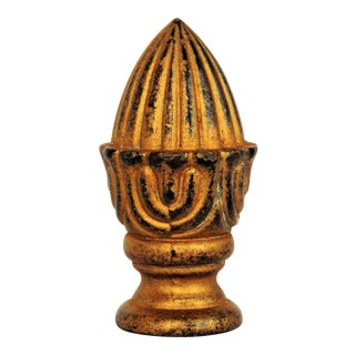 Gold Cast Iron Lamp Finial