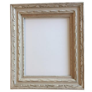 Mid-Century Carved Whitewashed Wood Frame