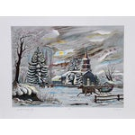 """Image of Bogdan Grom, """"Winter Tranquility,"""" Lithograph"""