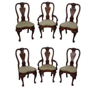 Walnut Georgian Queen Anne Dining Chairs - 6