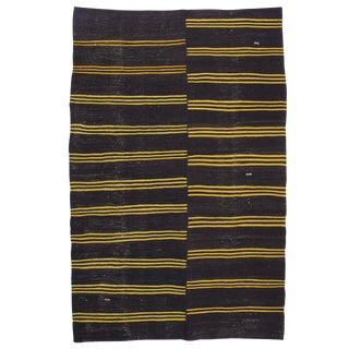 Kilim with Yellow Stripes