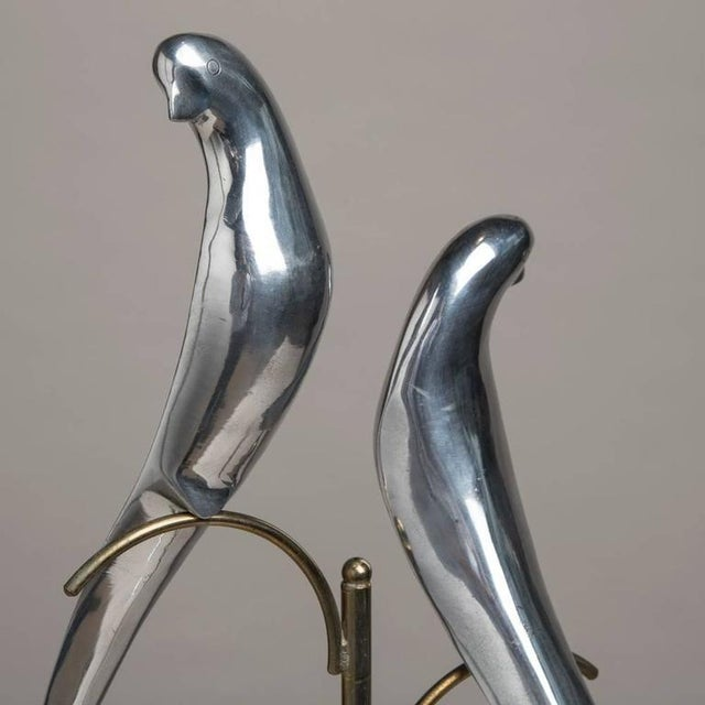 Pair of Sculptural Polished Metal Birds by Curtis Jere, 1977 - Image 3 of 4