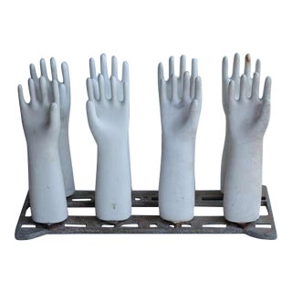 Industrial Glove Molds On The Stand
