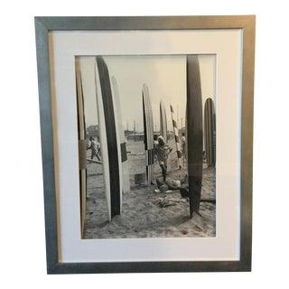Framed Vintage Surf Photograph