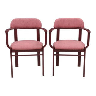 Berry Barrel Back Steel Chairs - a Pair
