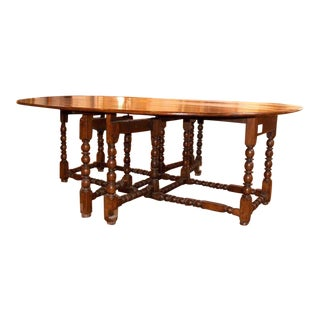 19th C Gate Leg Oval Table