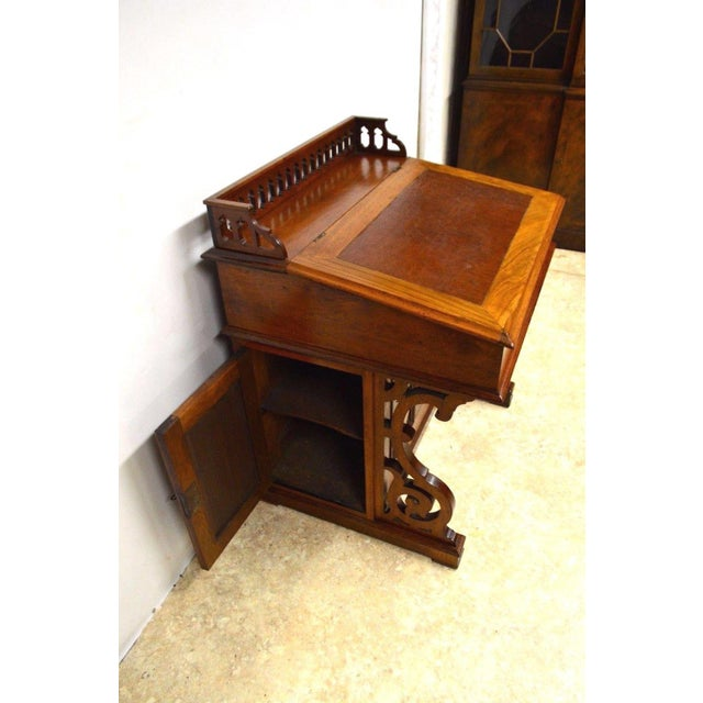 Antique Victorian 1800's Walnut Captain's Davenport Ladies Secretary Desk -  Image ... - Antique Victorian 1800's Walnut Captain's Davenport Ladies