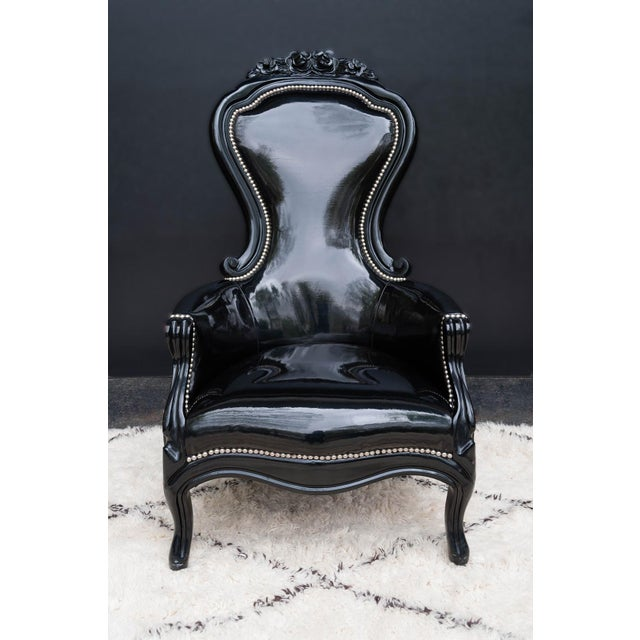 Luxe Regency King and Queen Chairs - Image 4 of 11