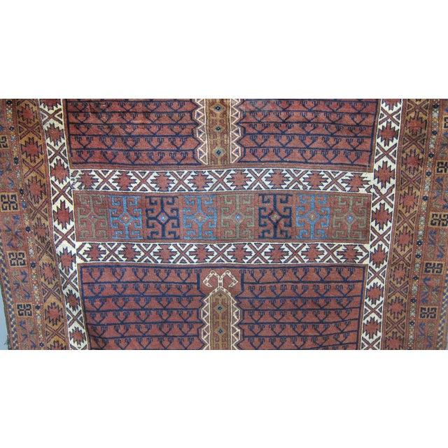"""Vintage Sarreid LTD Tribal Rug - 5' x 6'11"""" - Image 6 of 6"""