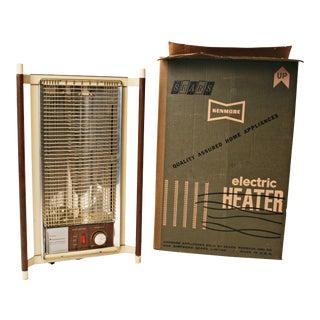 Mid Century Modern Sears Kenmore Electric Heater w Original Box