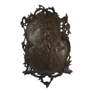 Antique Gilded Bronze Plaque