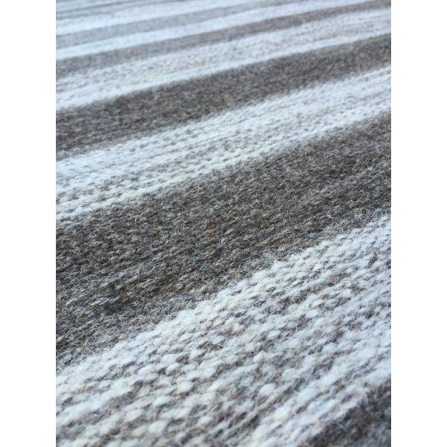 Handwoven Striped Ethnic Wool Rug - 2′3″ × 3′9″ - Image 5 of 5