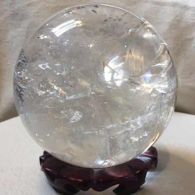 Extra Large Quartz Crystal Ball - Image 3 of 8