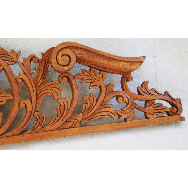 Architectural Wood Pediment : Architectural carved wood pediment chairish