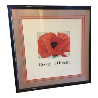 Framed Georgia O'Keefe Red Poppy Print