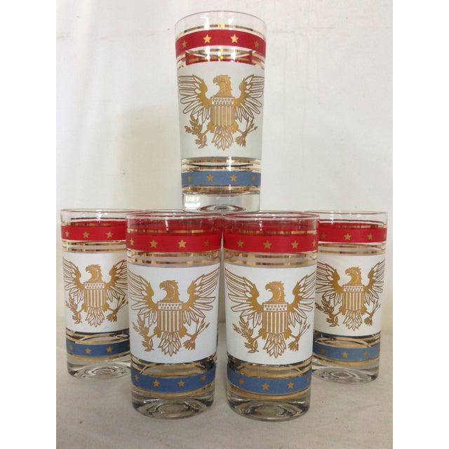 Image of American Bald Eagle 24k Highballs - Set of 7
