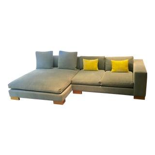Modern Blue Sectional Sofa