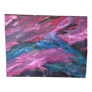 Into the Night Abstract Painting