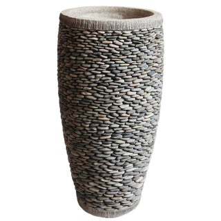 Bali Large Stacked Pebble Planter