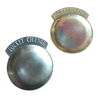 Solid Brass Pocket Change Dishes - A Pair