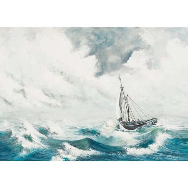 Image of Oil Painting - A Stiff Breeze, 1966