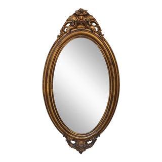 Goldleaf Oval Mirror