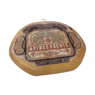 Arturo Fuente Cigar Label Decor on Wood
