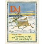 Image of Deer Alphabet Print - Letter D