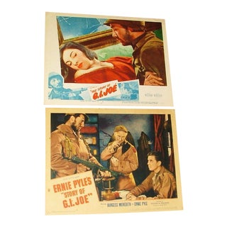 Vintage 1940's Gi Joe Movie Posters ''The History of GI Joe'' - a Pair