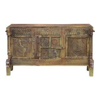 Antique Rustic Damachiya Chakra Cabinet