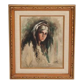 Original Oil Portrait on Canvas