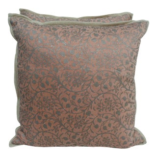 Pair of Custom Fortuny Linen Back Pillows