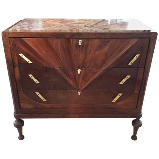 Italian Art Deco Chest of Drawers Commode