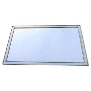 Double Brass Frame Mirror