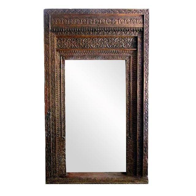 Vintage Old Door Mirror Frame - Image 2 of 2