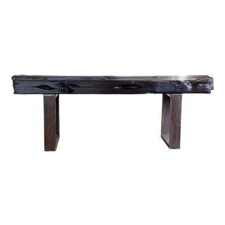 """Modern Organic Natural Edge Yakisugi Wood Bench 57"""""""