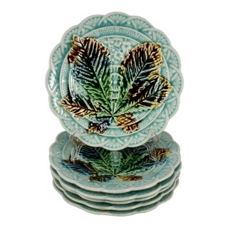 Villeroy & Boch Japonisme Chestnut Leaf Dessert Plates - Set of 6