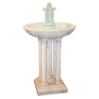 Italian Carved Marble Fountain