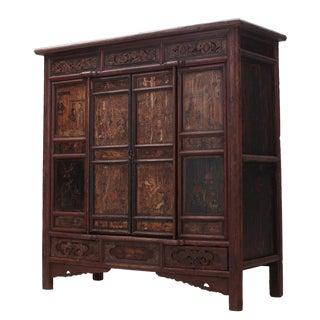 Sarreid Ltd. C. 1850 Chinese Wooden Cabinet.