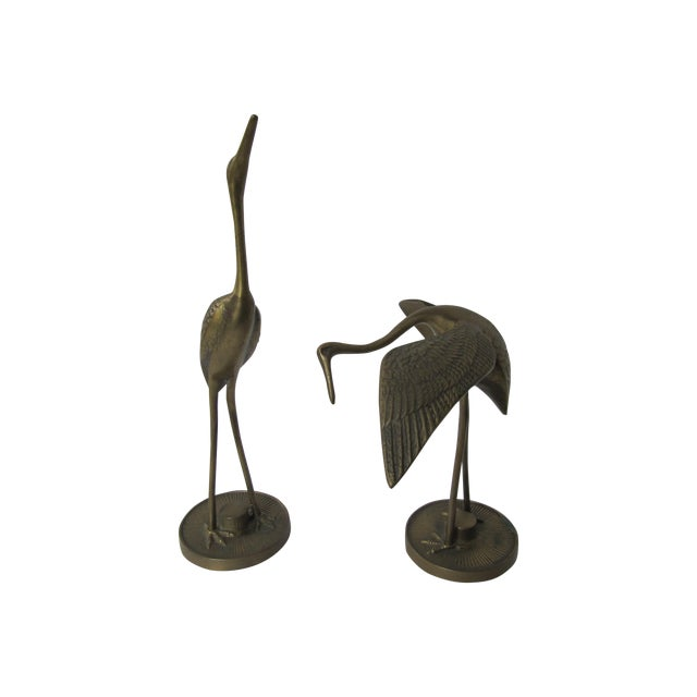 Solid Brass Egrets - Image 1 of 6