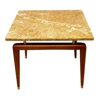 Mid Century Italian Floating Marble Top Table