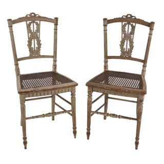Louis XVI Petite Chairs, 18th C. - A Pair