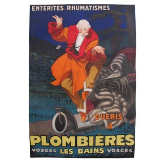 Original 1931 Vintage French Travel Poster Plombiers Spa