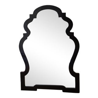 Black Lacquer Queen Anne Mirror
